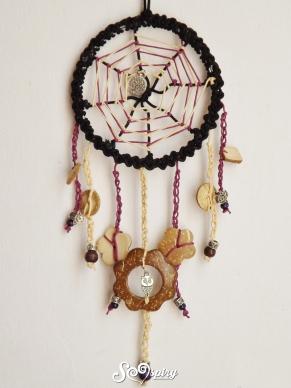 Purple spiderweb dreamcatcher