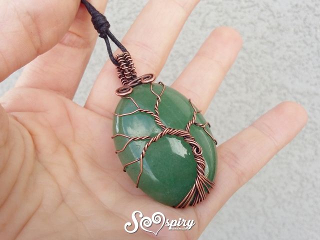 ciondolo-albero-della-vita-rame-anticato-wire-cabochon-tree-of-life-pendant-antique-copper-wire-wrap5